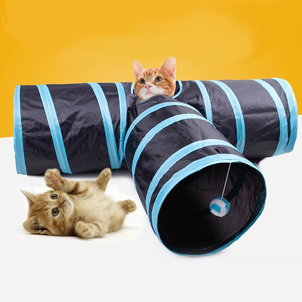 ของเล่นแมว ที่ทาสแมวควรมีให้แมว ไอเทมยอดฮิต ชิ้นที่สอง ก็คือ อุโมงค์แมว