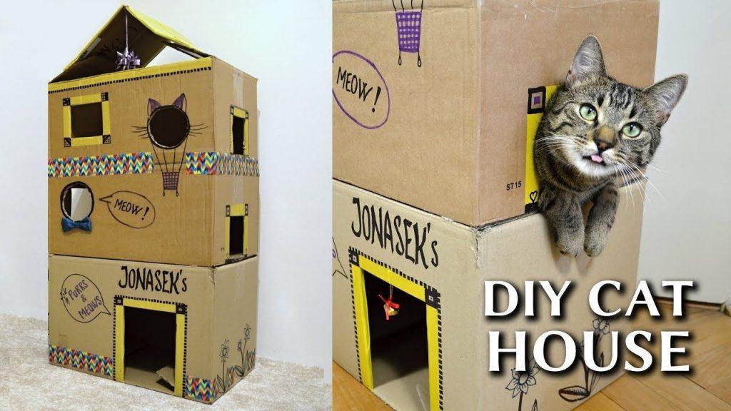 การสร้างบ้านแมว จากการเลือกประยุกต์วัสดุสิ่งของที่ไม่ใช้แล้ว