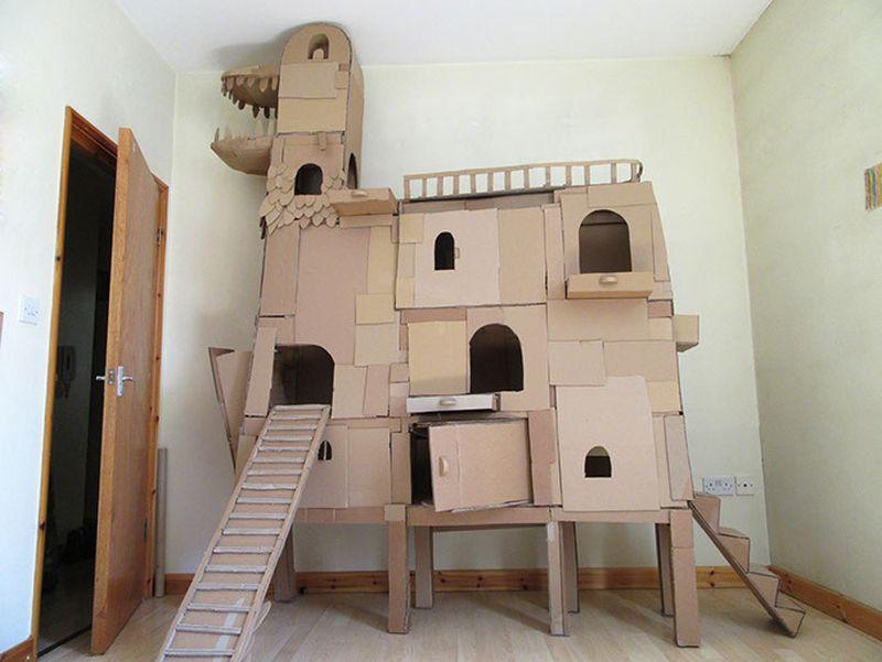 การสร้างบ้านแมว ไอเดียจากกล่องกระดาษสร้างได้ง่ายๆด้วยตัวเอง